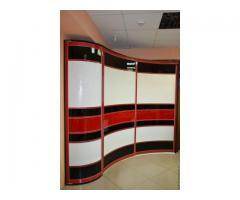 Радиусные шкафы-купе (изогнутые) под заказ в Гродно и области, в рассрочку, дешево