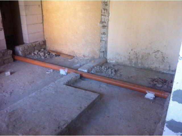 Разводка труб канализации (внутренняя)