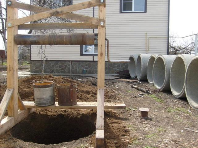 услуги по строительству колодцев, сантехника, канализации, траншеи, под ключ различного уровня слож